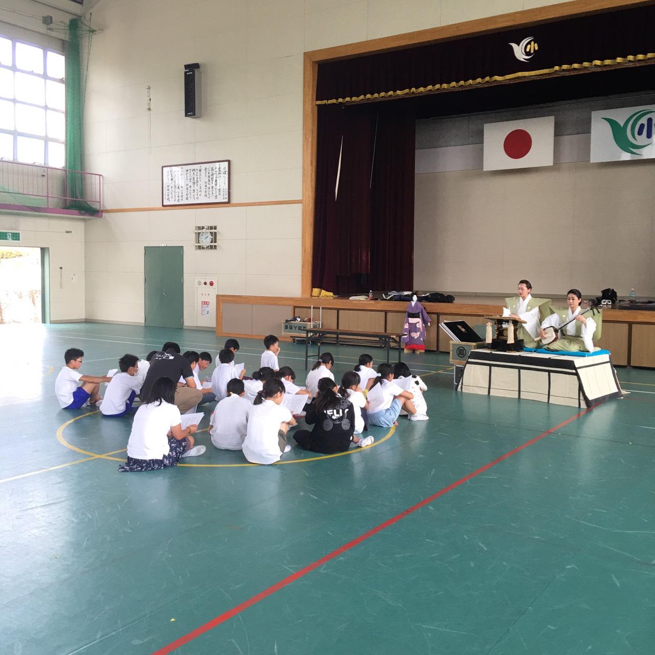 滋賀県米原市立河南小学校でワークショップを行いました。 | 淡路人形座